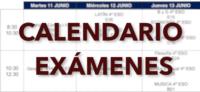 Calendario exámenes finales