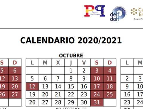 CALENDARIO ESCOLAR 2020/2021 ACTUALIZADO.